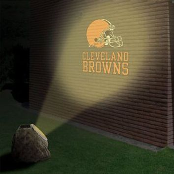 Cleveland Browns Solar-Powered Projection Rock