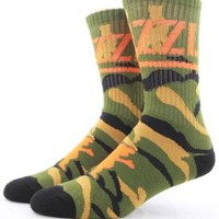 Grizzly, Branch Camo Socks - Olive - Socks / Underwear - MOOSE Limited