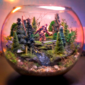 Sasquatch Country - Bigfoot  Terrarium / Diorama