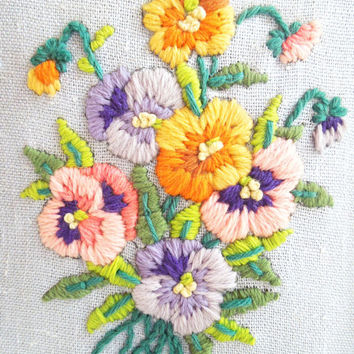 Framed art embroidery wall hanging  Embroidered by indiecreativ