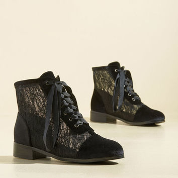 Lace Get Together Velvet Boot
