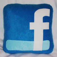Facebook Icon Pillow