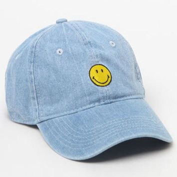 DCCKYB5 BODY RAGS Smiley Denim Dad Hat