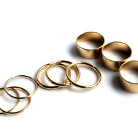 """So Many Ways"" 9 Piece Gold Ring Set"