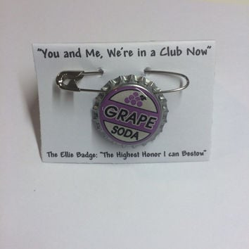 Glow in the dark Grape Soda Pin Ellie Badge