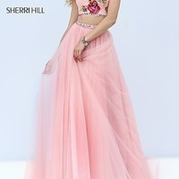 Sherri Hill Dress with Floral Beaded Top