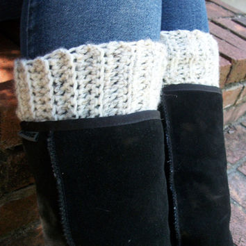Boot Cuffs - Boot Warmers - Boots Cuff - Boot Toppers - Cream - Winter - Christmas Gift