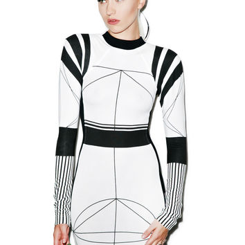 Black Scale Cydonia Dress