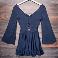 Lioness - by the sea gypsy romper in navy