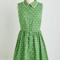 Mid-length Sleeveless A-line Picket Fence Perfection Dress