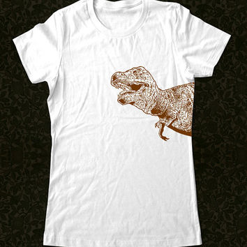 Dinosaur 1b Big Graphic T Rex T Shirt Printed on by edenbella2