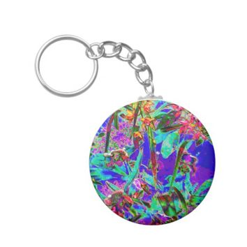 Crazy Bright Rainbow Garden Keychain