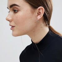 ASOS Gold Plated Sterling Silver Cut Out Half Hoop Earirngs at asos.com