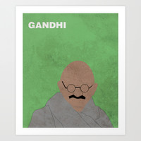 Minimalist Gandhi Art Print by Idle Amusement