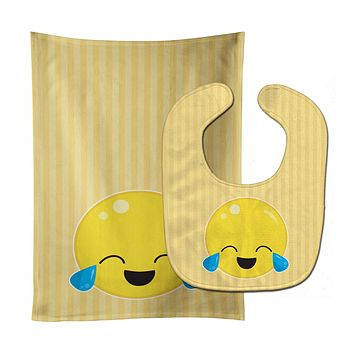 Crying Face #1 Baby Bib & Burp Cloth BB8730STBU