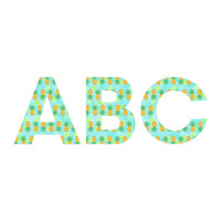 Lisa Argyropoulos Pineapples And Polka Dots Decorative Letters