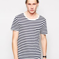 Weekday T-shirt Ton Stripe One Pocket