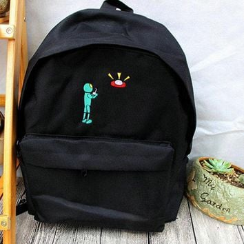 Funny UFO Alien Backpack