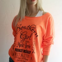 Jack Daniels style Southern Girl Lightweight Sweatshirt - FREE SHIPPING in the USA