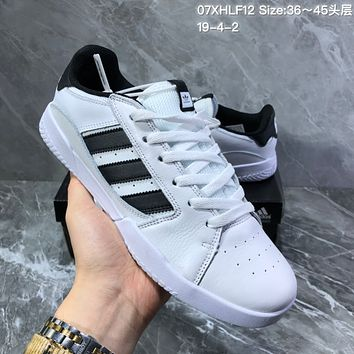 hcxx A1154 Adidas Vrx Low Classic Magic Sticking Antique Board Shoes White Black
