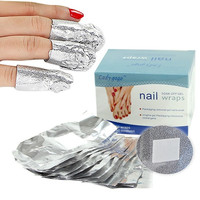 50PC Aluminium Foil Nail Wraps For Nail Art Soak Off Acrylic UV Gel Remover = 5658968001