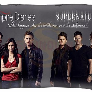Custom Supernatural TV  Pillow Cover -d Prints Pillow Durable Pillow Case LU Rectangle Zippered Classic Fashion