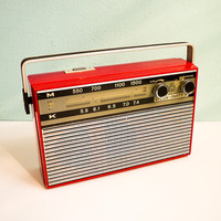 Vintage Red Transistor Radio Stern Party II Working by EuroVintage