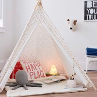 Teepee Polyester Fabric/Gold Star - Pillowfort™