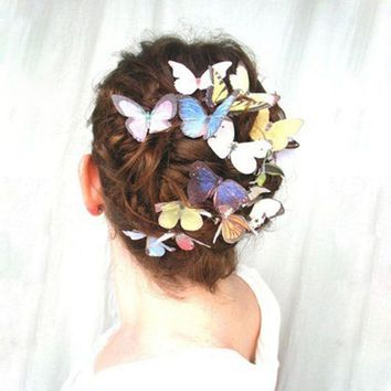 e3fb722a0 Newest 5 Pcs Women Girls Fashion Butterfly Hair Clips Wedding Pi