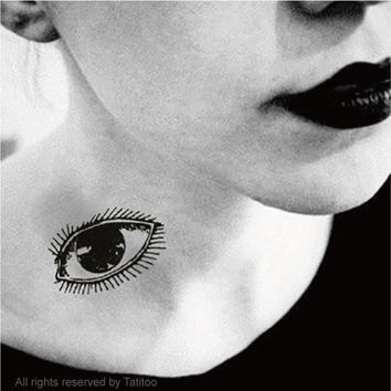 Big eyes  - Temporary Tattoo temporary tattoo halloween tattoo T342