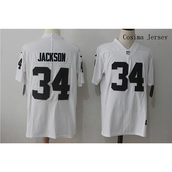 Danny Online Nike NFL Jersey Men's Vapor Untouchable Color Rush Los Angeles Raiders #34 Bo Jackson Football Jerseys White