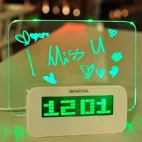 niceEshop(TM) 5 LED Message Board With Highlighter Digital Alarm Clock With 4 Port USB Hub:Amazon:Home & Kitchen