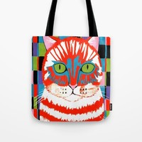 Bad Cattitude Tote Bag by Kathleen Sartoris