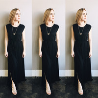 A Gypsy Maxi Dress in Black