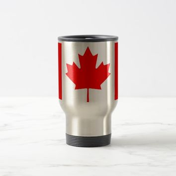 Travel Mug with Flag of Canada