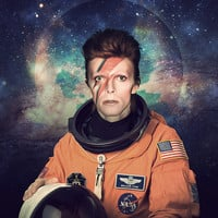 David Bowie Astronaut Poster