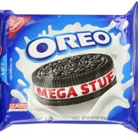 Oreo Mega Stuf Chocolate Sandwich Cookies (13.2-Ounce Package)