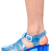 READY 4 THIS JELLY BLUE SANDAL