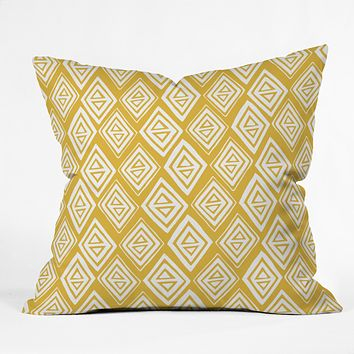 Heather Dutton Diamond In The Rough Gold Throw Pillow