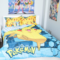 Pokemon Pikachu Twin/Full Comforter