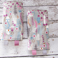 Tula Forest House Suck Pads to Match Tula SSC -  Drool Pads, Tula Accessories, Tula Suck Pads, Ready To Ship