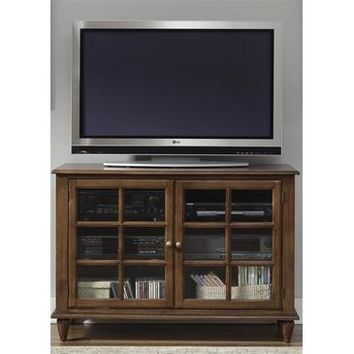 Liberty Furniture Low Country TV Console in Bronze Finish
