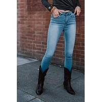 For A Change High Waisted Skinny Jean - Light Wash