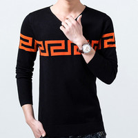 Men Sweater Casual Pullovers Men Clothing Sweater Slim Fit Men Warm Pullovers SM6