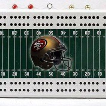 San Francisco 49ers NFL Licensed Football Cribbage Board FREE US SHIPPING