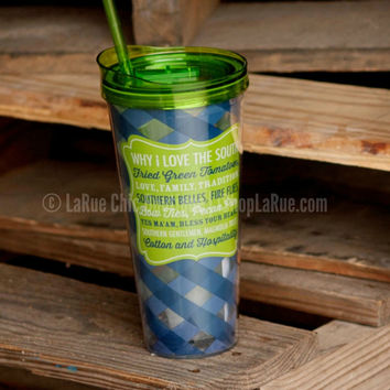 22 OZ LOVE THE SOUTH TUMBLER