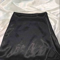SWEET LORD O'MIGHTY! SILK KITTEN SKIRT IN BLACK
