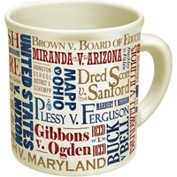 Great Supreme Court Cases Mug - The Losers Disappear With Hot Water