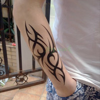 Waterproof  Temporary Tattoo Sticker cool men's fire tattoo flame totem Water Transfer Fake Tattoo Flash Tattoo for women