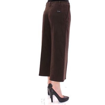 Dolce & Gabbana Brown Cotton Cropped Chinos Jeans Pants